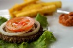 Raw Vegan Burger and Fries